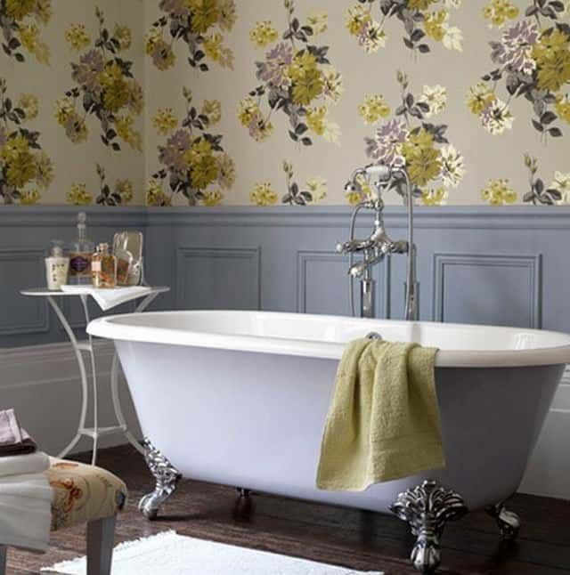 Purple Shabby Chic Bathroom