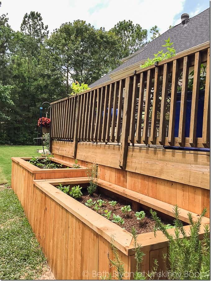 Raised Garden Bed Deck Skirting