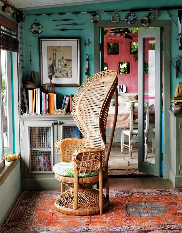 Reading Station Peacock Chair