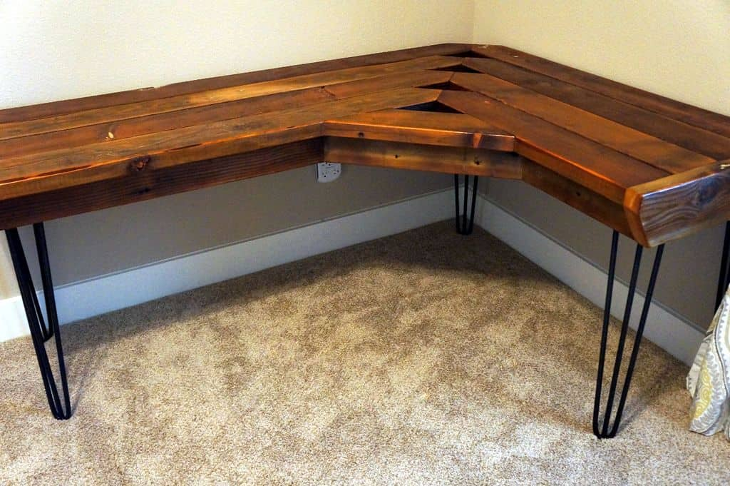Reclaimed DIY Corner Desk