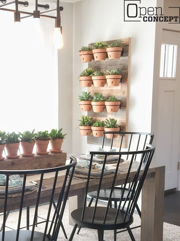 Reclaimed Wood Wall Planters Indoor