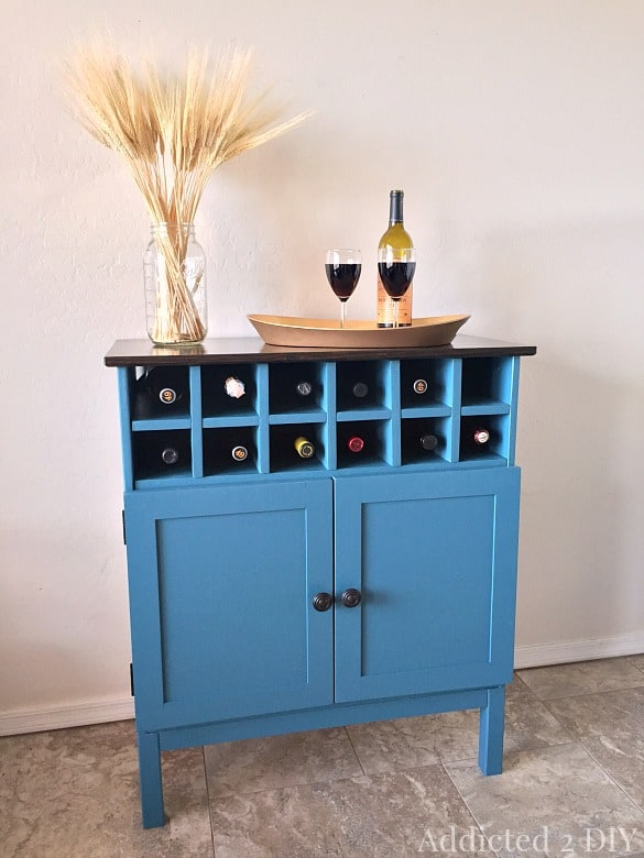 Recycled Wine Rack Cabinet