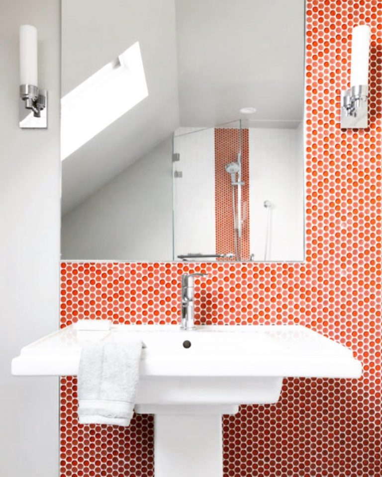 Red Penny Tile Wall