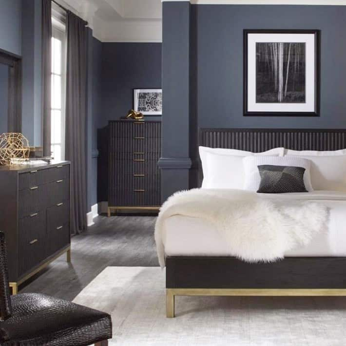 Refreshing Blue Art Deco Bedroom