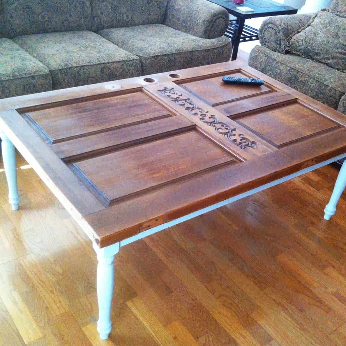Repurposed and Upcycle Door Coffee Table