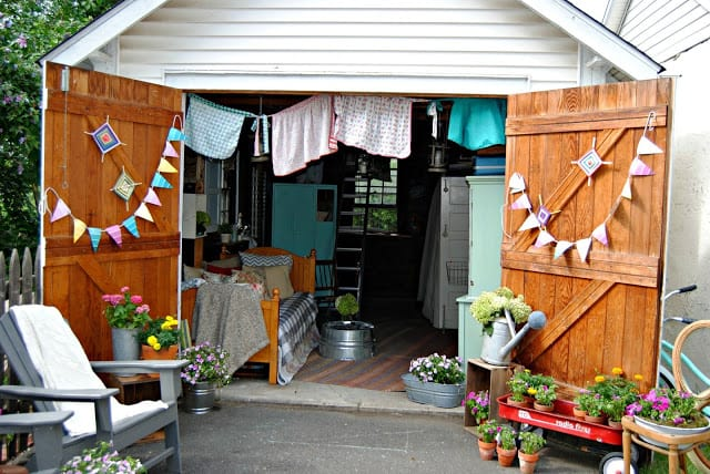 Repurposed Garage She Shed Ideas