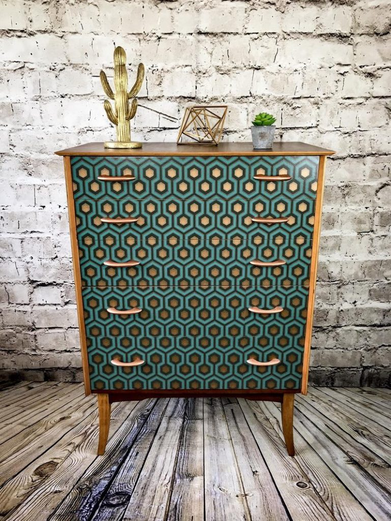 Patterned Retro Drawer