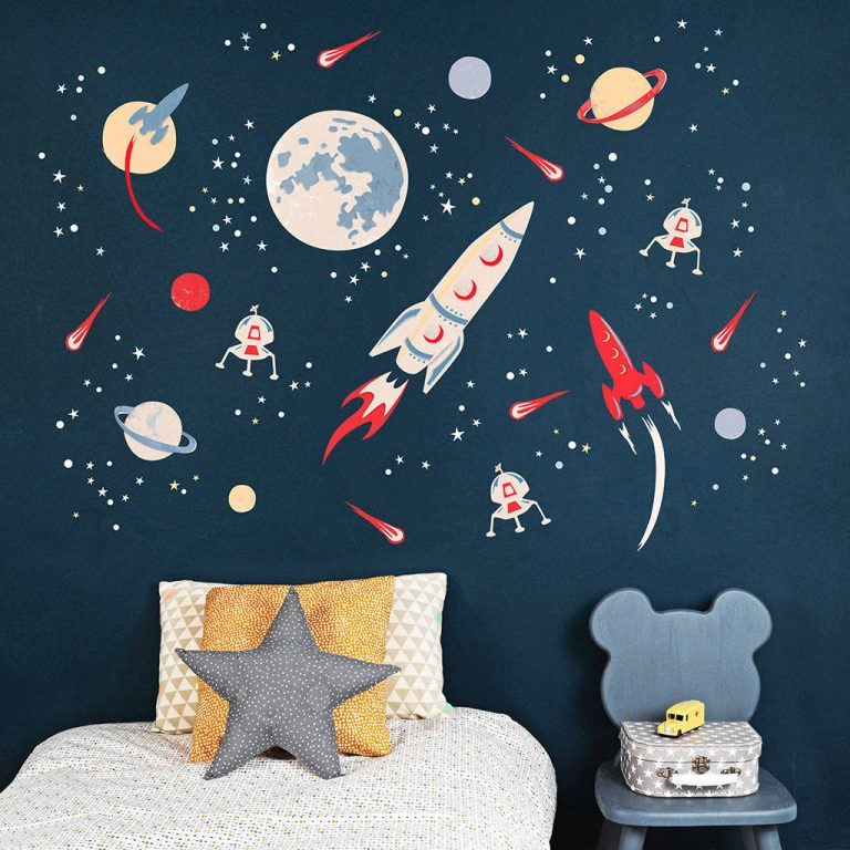 Rocket Wall Sticker For Space Themed Bedroom