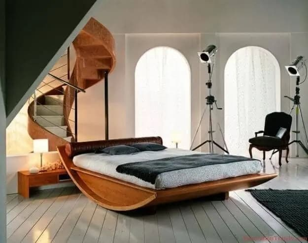 Rocking Wooden Bed