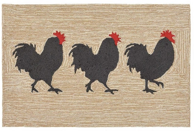 Roosters Kitchen Runner Rugs