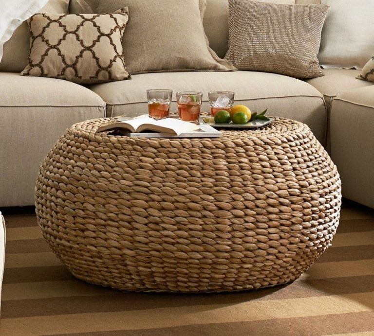 Rustic Style: Round Rattan Coffee Table