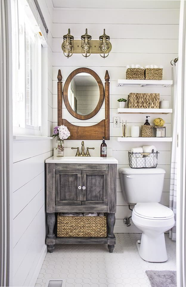 Rustic- Farmhouse Bathroom Decor Ideas