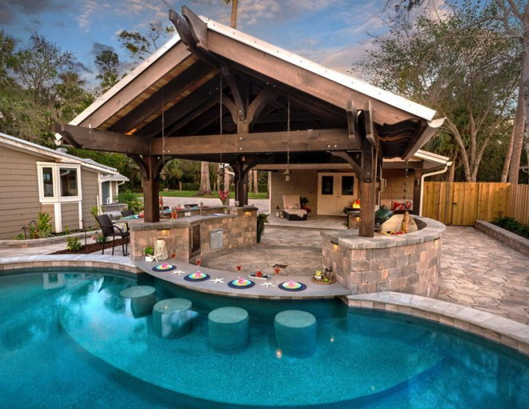 Rustic Pool Cabana Ideas