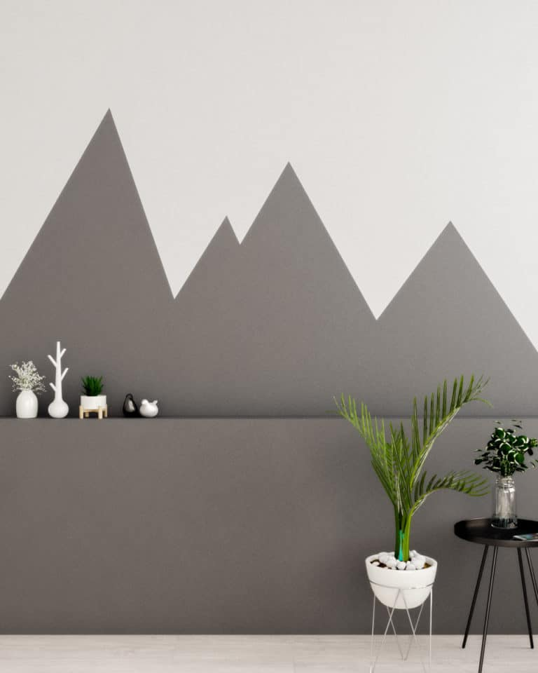 Scandinavian Geometric Wall Paint