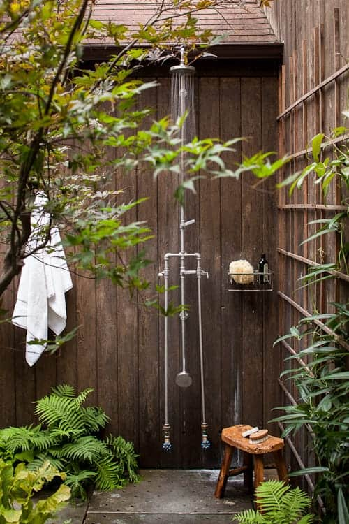 Secret Outdoor Shower