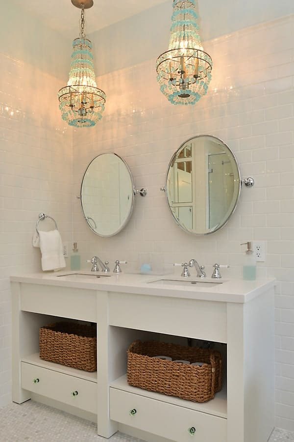 Shabby Chic Bathroom Chandelier