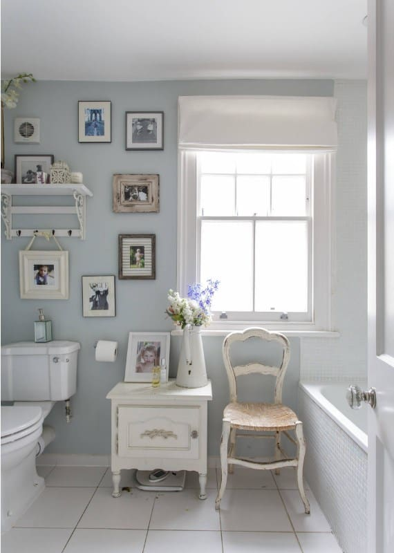 Shabby Chic Bathroom With Photographs