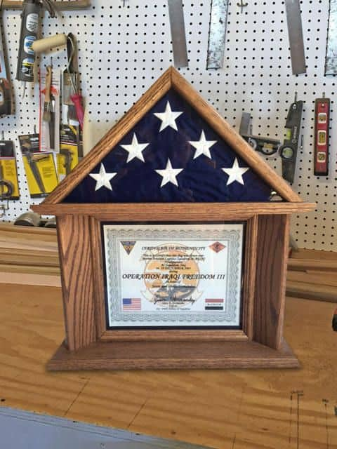 Shadow Box For Flag and Certificate