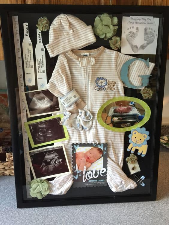 Cool Shadow Box Ideas for Babies