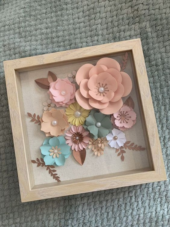 Shadow Boxes Paper Flowers for Wedding