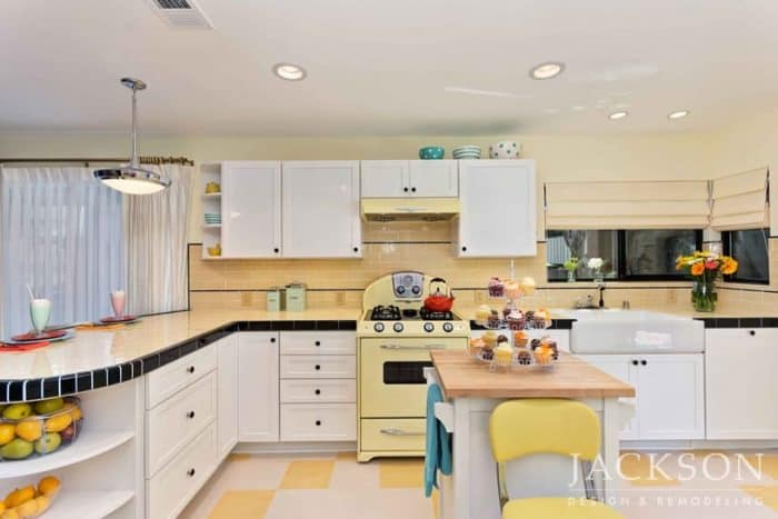 Shiny Mid Century Modern Kitchen