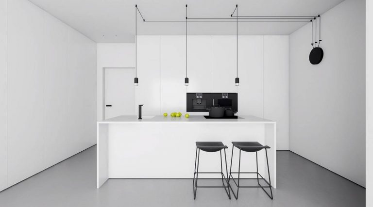 Simple Black and White Kitchen Designs