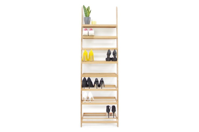 Simple Leaning Ladder Shoe Rack