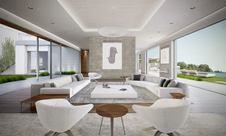 Simple Mansion Living Rooms