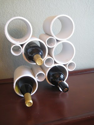 Simple PVC Wine Rack