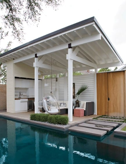 Simple Pool Cabana Ideas