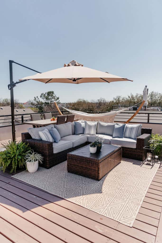 Simple Rooftop Deck