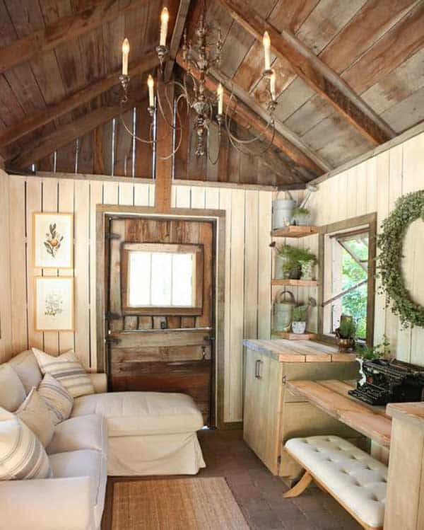 Simple Rustic She Shed Ideas