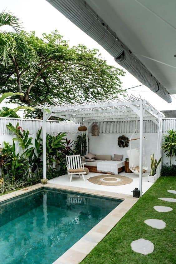 Simple Scandi Pool Cabana Ideas
