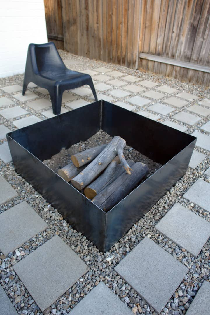 Simple Square Fire Pit Ideas