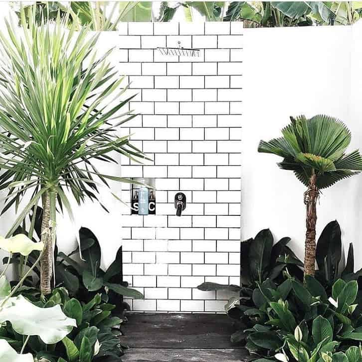 Simple Tiles Outdoor Shower