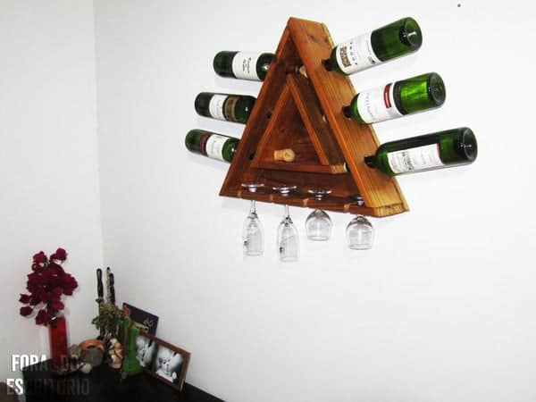 Simple Wall-Mounted Wine Rack