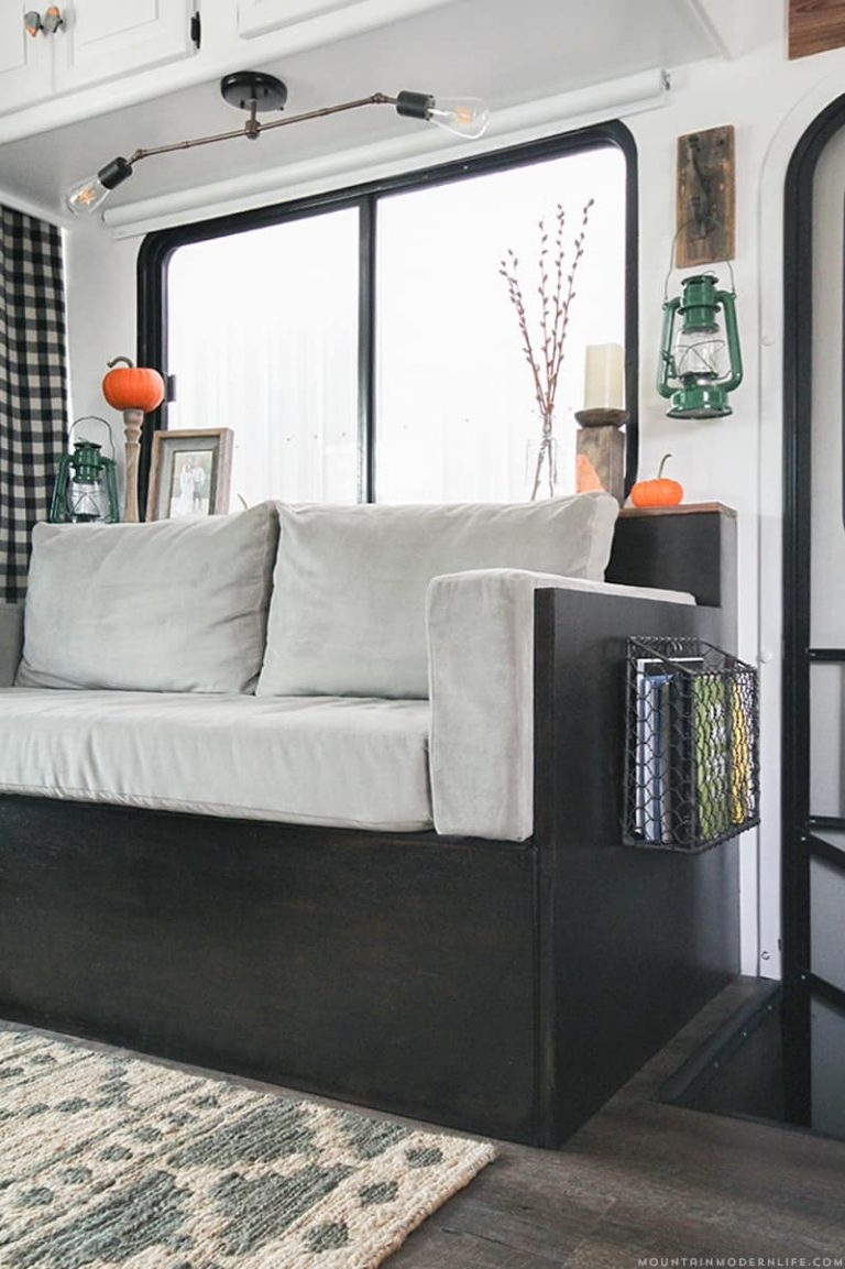 Small DIY Couch Storage