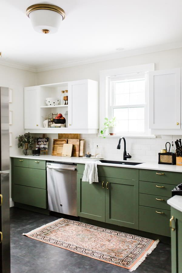 Small Green Kitchen Cabinet