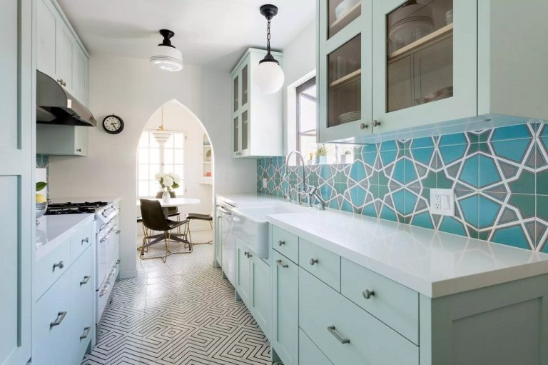 Soft Color Spanish Style Kitchens