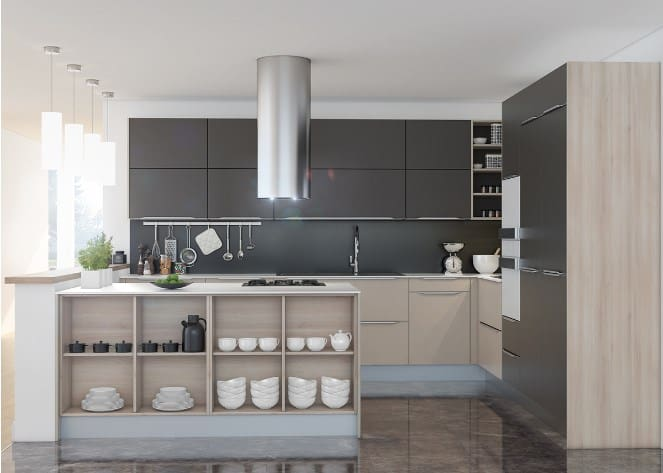 Sophisticated Grey Kitchen Cabinet