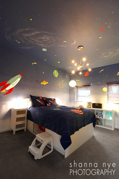 Space-Saving Space Themed Bedroom