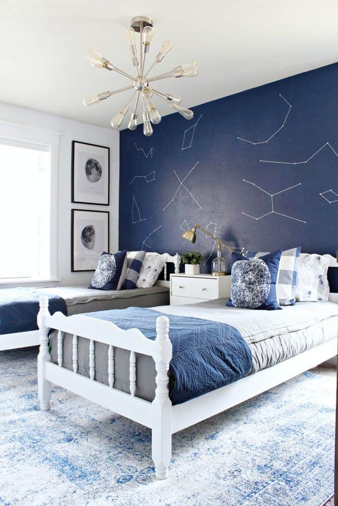 Space Themed Bedroom Makeover