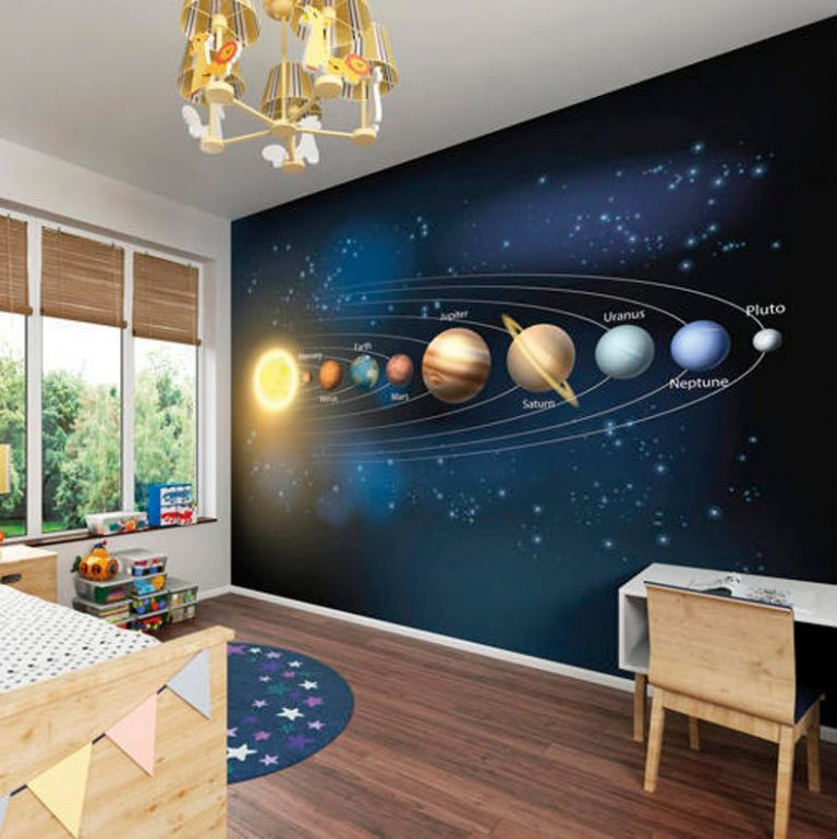 Space Themed Bedroom Mural