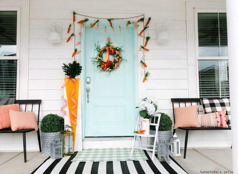 Spring Front Door Decor Ideas