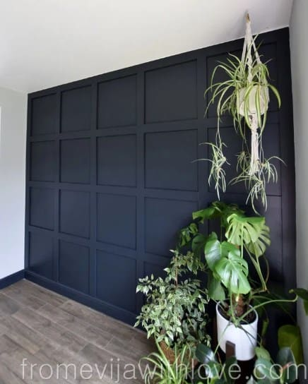 Square Board Wood Accent Wall Ideas