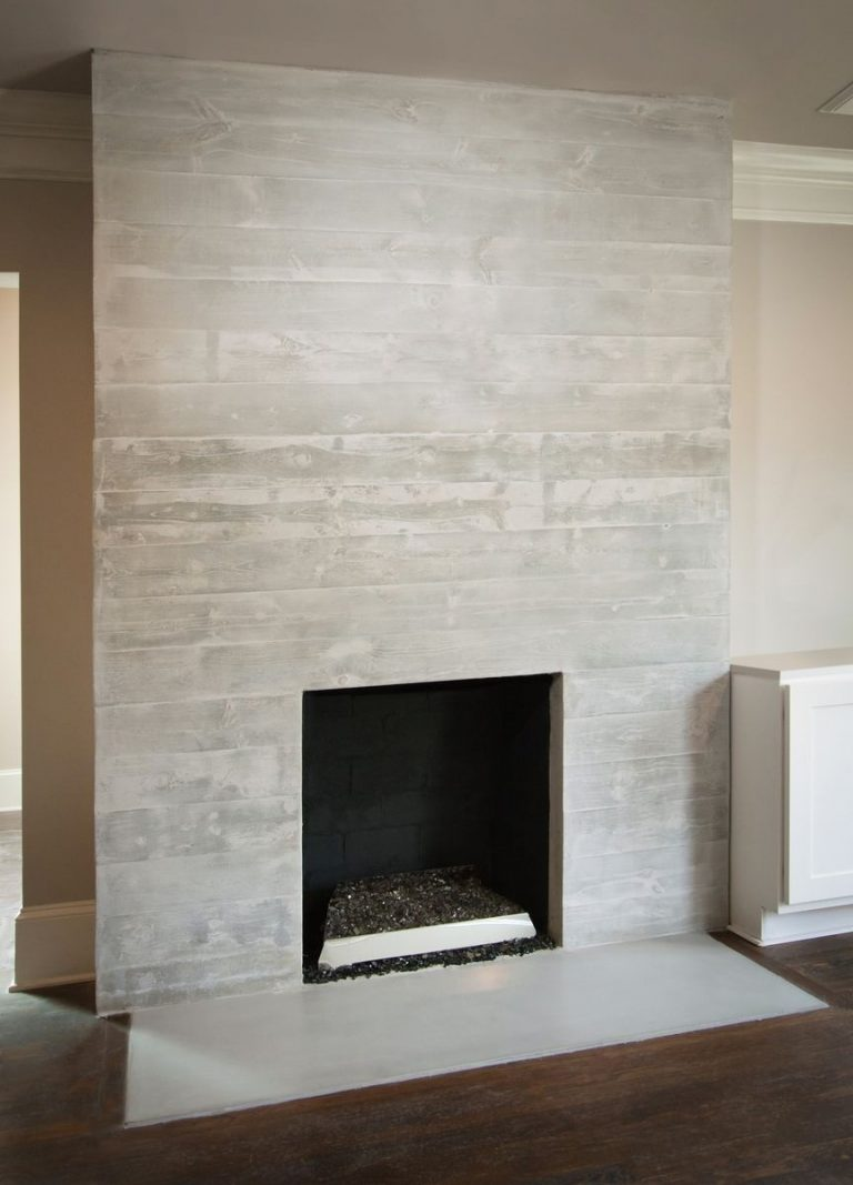 Stamped Concrete Fireplace Tiles