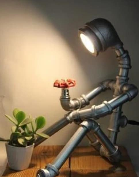 Steampunk Humanoid Robot Cool Lamps