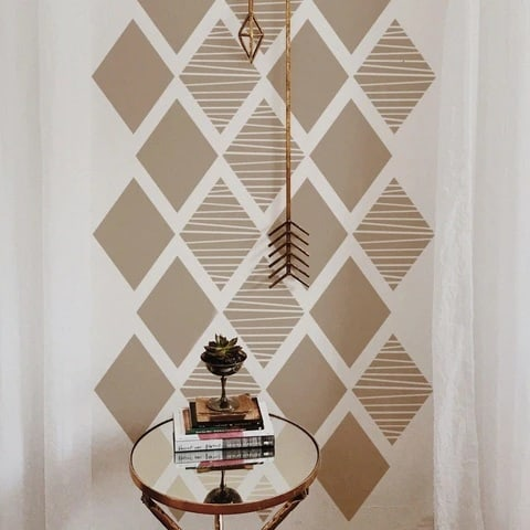 Stencil Geometric Wall Paint