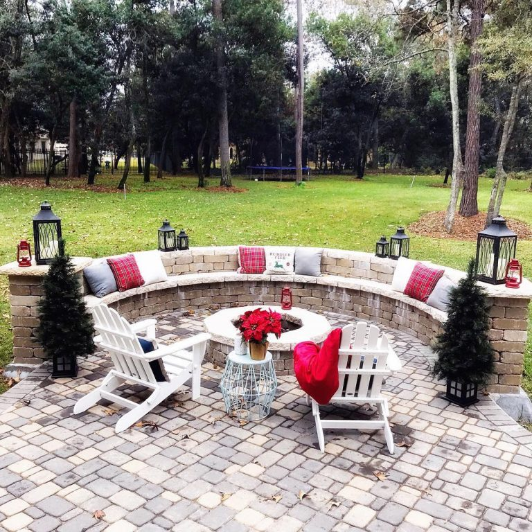 Stone Bench Backyard Idea