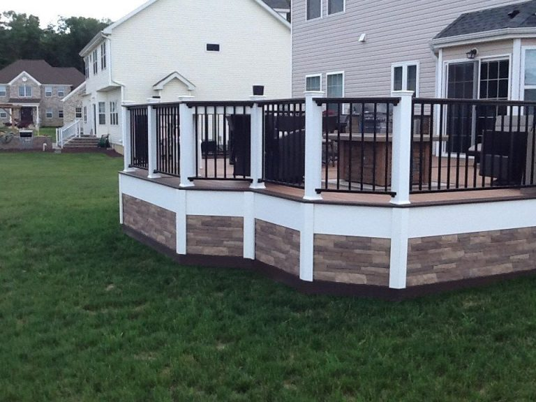 Natural Stone Deck Skirting Ideas